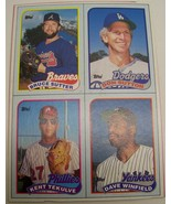 1989 Topps baseball card box bottom panel Sutter,Sutton,Winfield,Tekulve - $6.00
