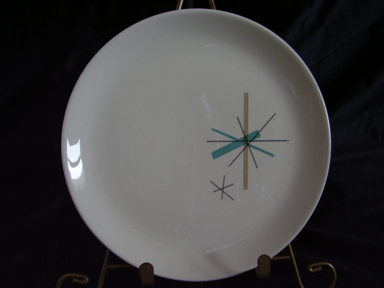 Eames Salem China North Star Salad Cake Plate MidCentury