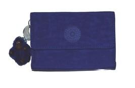 NEW WOMEN KIPLING PIXI MEDIUM ORGANIZE WALLET COLOR FLASH BLUE CARTEIRA ... - $39.99
