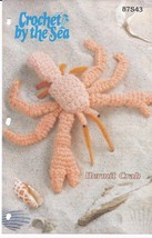 RARE~Crochet by the Sea Hermit Crab~Annie's - $7.65