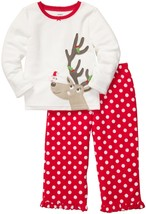 NEW CARTER'S BABY SET GIRLS 2 PIECE HOLIDAY DOT REINDEER 2T SWEATER PANTS - $22.99
