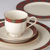Lenox Winter Greetings Plaid 5 Piece Dinnerware Set Service For 1 - $97.99