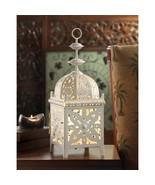 Gorgeous White Medallion Moroccan Electric Lantern Table Lamp - $22.72