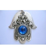 Renaissance evil eye protection hamsa keychain charm from Israel kabbala... - £6.07 GBP
