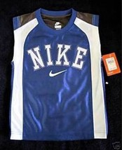 BOYS 6 - Nike - Royal Blue-Gray-White BASKETBALL SPORTS JERSEY - $14.22