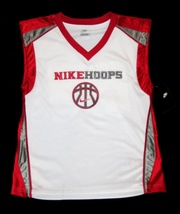BOYS 6 - Nike Hoops - White-Red-Gray BASKETBALL SPORTS JERSEY image 7