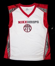 BOYS 6 - Nike Hoops - White-Red-Gray BASKETBALL SPORTS JERSEY image 9