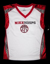 BOYS 6 - Nike Hoops - White-Red-Gray BASKETBALL SPORTS JERSEY image 10