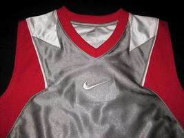 BOYS 7 - Nike - Flight Grey-Red-White BASKETBALL SPORTS JERSEY image 6
