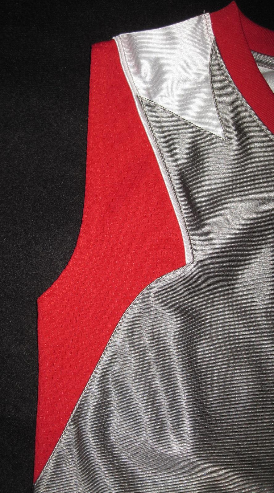 BOYS 7 - Nike - Flight Grey-Red-White BASKETBALL SPORTS JERSEY image 8