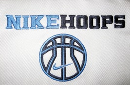 BOYS 6 - Nike Hoops - White-Electric Blue-Black BASKETBALL SPORTS JERSEY image 2
