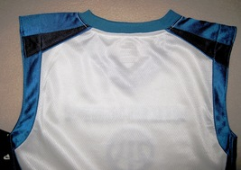 BOYS 6 - Nike Hoops - White-Electric Blue-Black BASKETBALL SPORTS JERSEY image 8