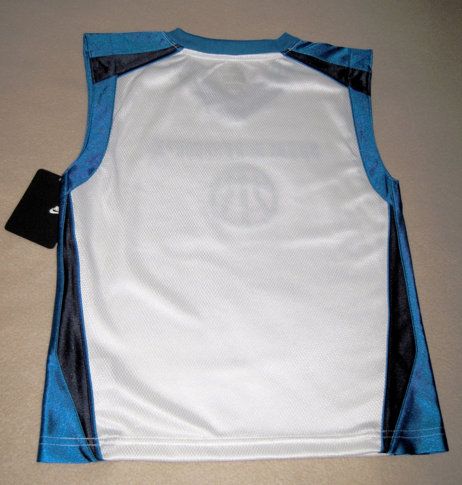 BOYS 6 - Nike Hoops - White-Electric Blue-Black BASKETBALL SPORTS JERSEY image 9