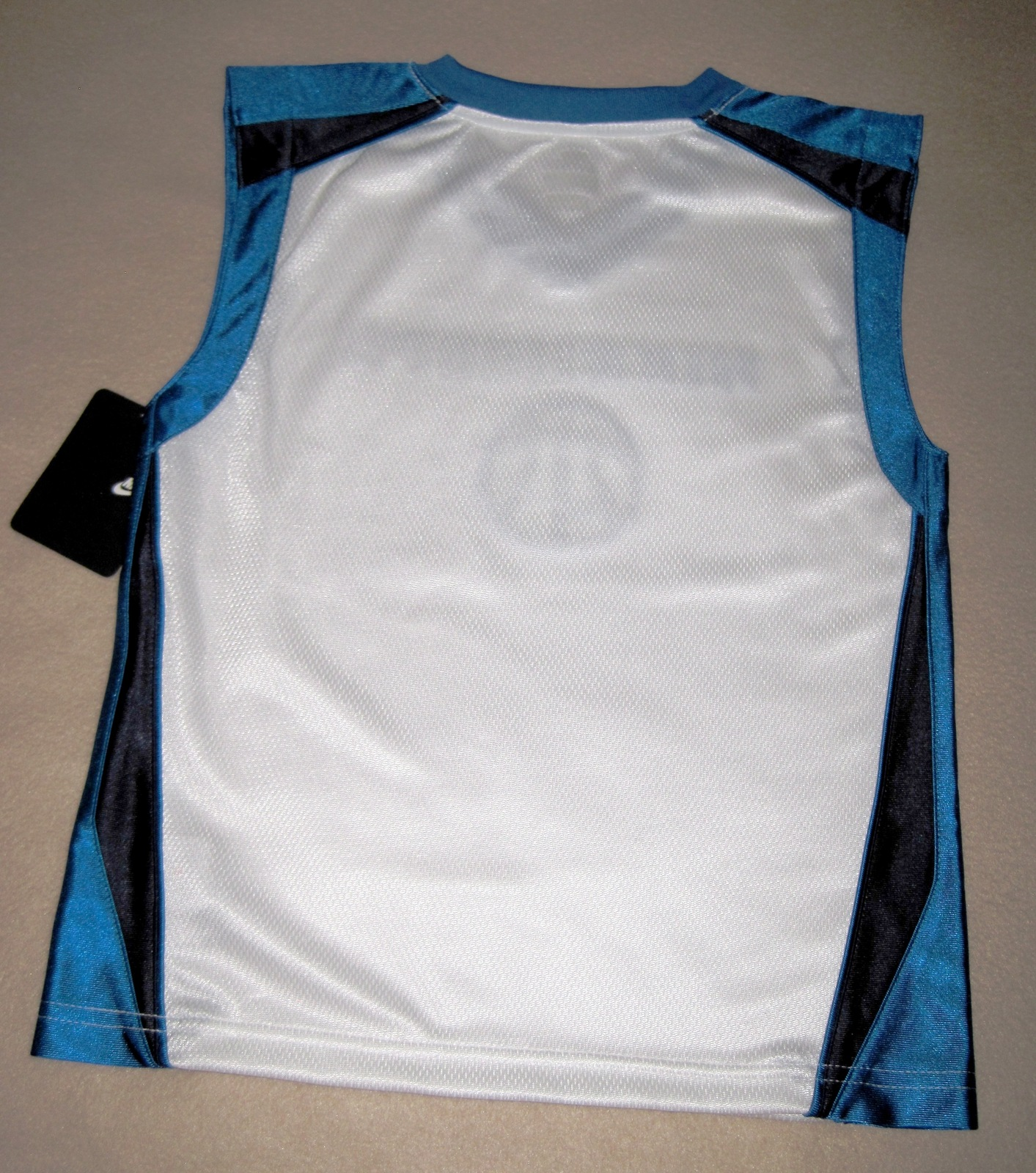 BOYS 6 - Nike Hoops - White-Electric Blue-Black BASKETBALL SPORTS JERSEY image 10
