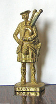 Scot 3 Brass Kinder Surprise Metal Soldier Figurine Vintage Toy 4cm High - $7.87