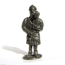 Viking #1 Kinder Surprise Size Metal Soldier Figurine Vintage Toy 4 cm - $6.88