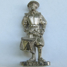 SWISS 3 Kinder Surprise Metal Soldier Figurine Vintage Toy 4cm High - $6.88