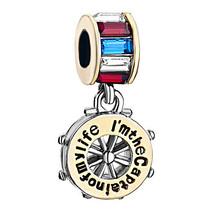 Pugster Crystal I'm The Captain Of Life Dangle Beads For Charm Bracelet - $16.49