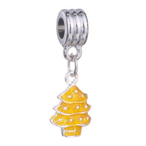 Pugster Silver Plated Topaz Tree Charm Bracelet Spacer European Bead Dangle - £6.10 GBP