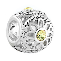 Pugster Silver Plated Crystal Filigree Open Daisy Flower Charm Bracelet ... - $12.49