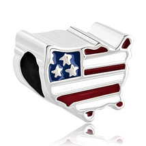 Pugster? Patriotic Proud To Be American Flag Country Of Us Map Lucky Charms - $22.99