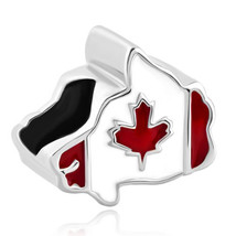 Pugster Maple Leaf Patriotic Proud To Be Canada Flag Of Canada Map Bead - $12.49