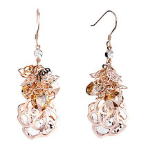 Pugster Light Color Topaz Crystal Cluster Dangle Flower Containing April... - $61.49