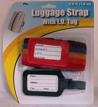 Rainbow Adjustable Security Packing Belt Strap For Luggage Baggage Trave... - $2.53