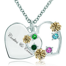 Pugster 925 Sterling Silver Cookies & Cocoa Heart Love Colorful Swarovsk... - $46.99
