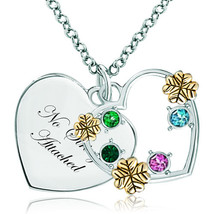 Pugster 925 Sterling Silver No Strings Attached Heart Love Colorful Swar... - $46.99
