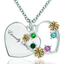 Pugster 925 Sterling Silver Eternally Steadfast Heart Love Colorful Swar... - $46.99