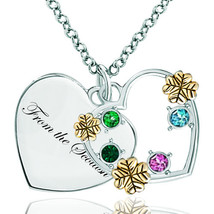 Pugster 925 Sterling Silver From The Scottish 18k Golden Heart Love Mult... - $46.99
