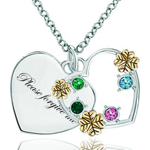 Pugster 925 Sterling Silver Please Forgive Me 18k Golden Heart Love Mult... - £33.81 GBP