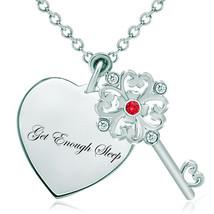 Pugster 925 Sterling Silver Get Enough Sleep Heart Love Light Red Swarov... - $46.99