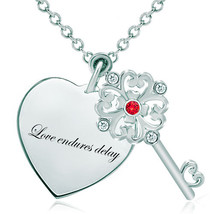 Pugster 925 Sterling Silver Love Endures Delay Heart Love Light Red Swar... - $46.99