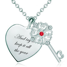 Pugster 925 Sterling Silver And Try To Keep It All The Yearheart Love Li... - $46.99