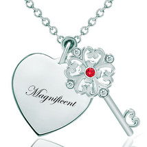 Pugster 925 Sterling Silver Magnificentheart Love Light Red Clear White ... - $46.99