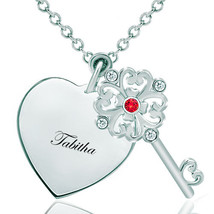 Pugster 925 Sterling Silver Tabithaheart Love Light Red Clear White Swar... - $46.99