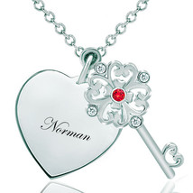 Pugster 925 Sterling Silver Normanheart Love Light Red Clear White Swaro... - $46.99