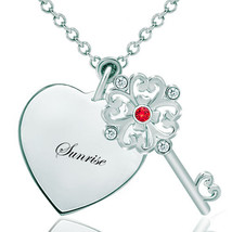 Pugster 925 Sterling Silver Sunriseheart Love Light Red Clear White Swar... - $46.99