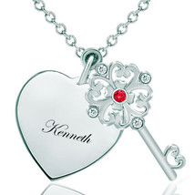 Pugster 925 Sterling Silver Kennethheart Love Clear White Light Red Swar... - $46.99