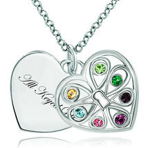 Pugster 925 Sterling Silver All Keyed Up Double Heart Love Multi Color S... - $46.99
