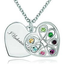 Pugster 925 Sterling Silver I Understand You Double Heart Love Multi Col... - $46.99