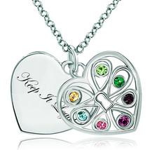 Pugster 925 Sterling Silver Keep It Legalheart Love Multi Color Swarovsk... - $46.99