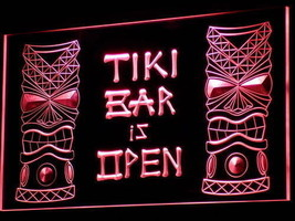 Tiki Bar  Neon Sign Bar Man Cave Pub Happy Hour  - $29.99