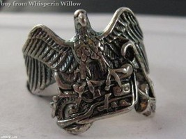 Sterling Silver Eagle and Motorcycle Biker Ring 10 - $19.95