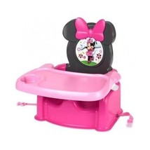 Pink Disney Minnie Booster Seat Mouse Toddler Food Lunch Tray Eat Strap ... - $51.31