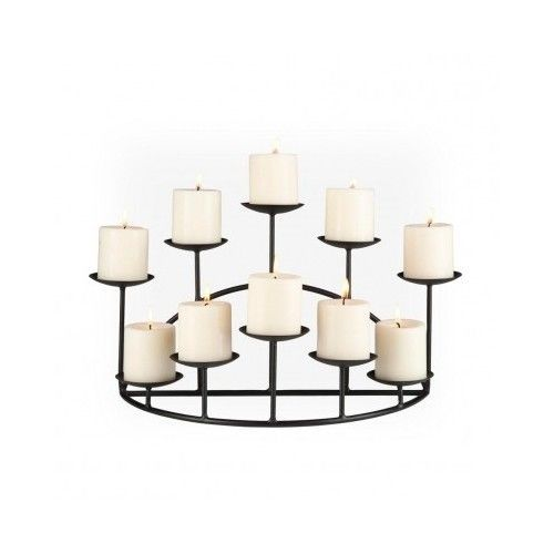 Metal Candle Holder Candelabra 10 Fireplace Mantel Decor Centerpiece Home Wall Candle Holders