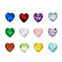 12Colors Heart/Round/Star Crystal Birthstone Charms Floating Birthday Stone Char - $9.89+