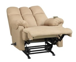 Tan Couch Rocker Reclining Chair Padded Massager Furniture Lazy Gifts Me... - $395.01
